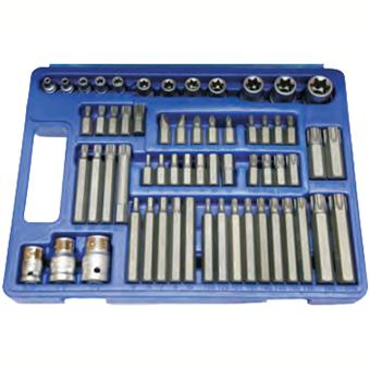 61 pc torx spline hex screwdriver bits e series socket set. Black Bedroom Furniture Sets. Home Design Ideas