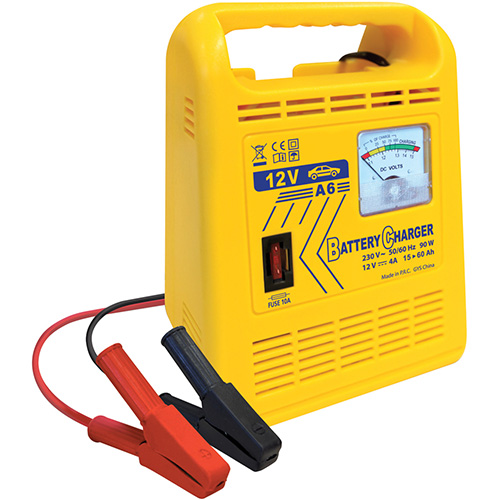 12-V 6-Amp 15-60Ah Non Auto Battery Charger